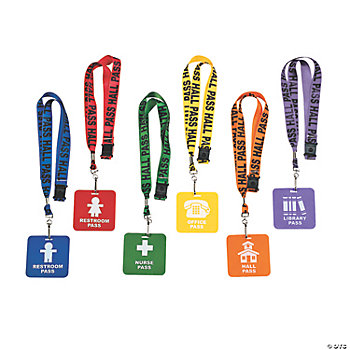 """Hall Pass"" Lanyards"