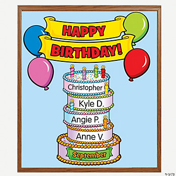Birthday Cake Bulletin Board Set