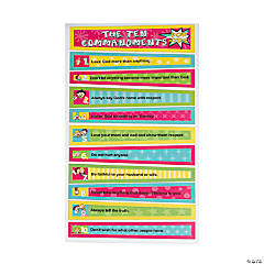 Ten Commandments Bulletin Board Cutouts