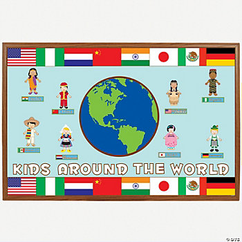 225 Pc. Multicultural Bulletin Board Set - Oriental Trading