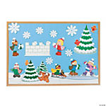 53 Pc. Mini Winter Bulletin Board Set