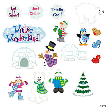 20 Winter Classroom Window Clings
