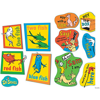 Dr. Seuss™ Large Fish, Fox & Sam Cutouts