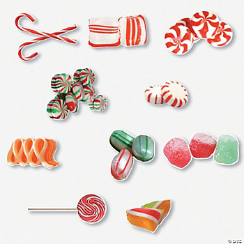 50 Jumbo Candy Cutouts