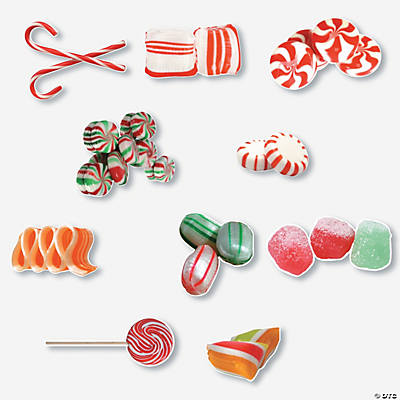 Jumbo Christmas Candy Bulletin Board Cutouts
