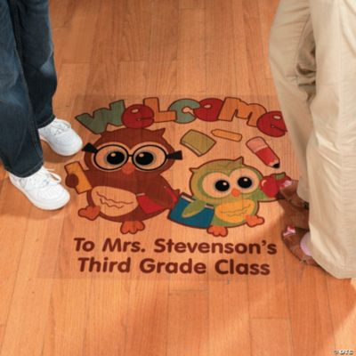 """Personalized """"Welcome"""" To Our Class Floor Cling"""