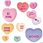 Large Conversation Heart Valentine Cutouts