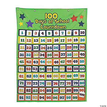 "101 Pc. ""100th Day"" Countdown Pocket Chart"