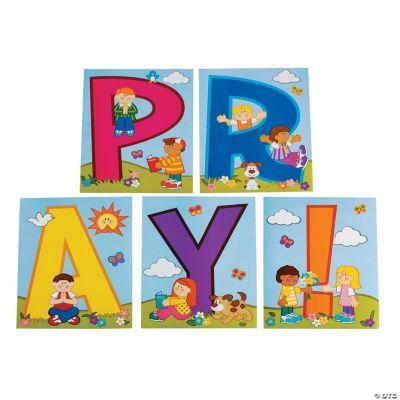 """Pray!"" Bulletin Board Cutouts"