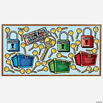 Keys To Salvation Bulletin Board Cutouts