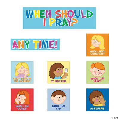 Kids Pray Bulletin Board Cutouts