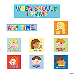 Kids Pray Bulletin Board Cutouts