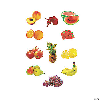 11 Pc. Realistic Fruit Bulletin Board Cutouts