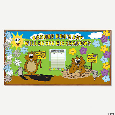 150 Pc. Groundhog Day Bulletin Board Set