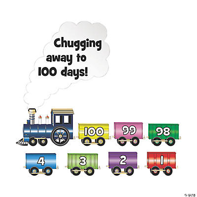 101 100th Day of School Countdown Bulletin Board Cutouts