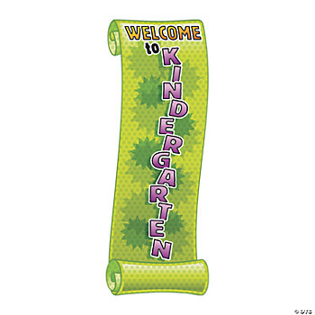 """Welcome To Kindergarten"" Banner"