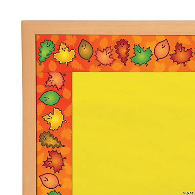 Fall Leaf Bulletin Board Border