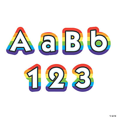Rainbow Bulletin Board Letters & Numbers