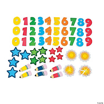 78 Bright Magnetic Manipulatives