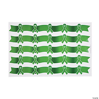 Green Awareness Ribbon Borders