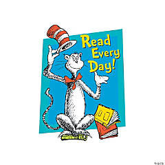 Dr. Seuss™ Cat in the Hat™ Read Every Day! Window Cling