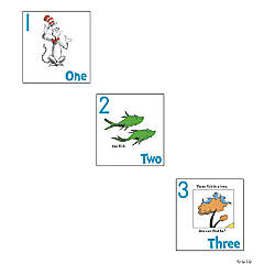 Dr. Seuss™ Cat In The Hat™ Numbers 1-20 Posters