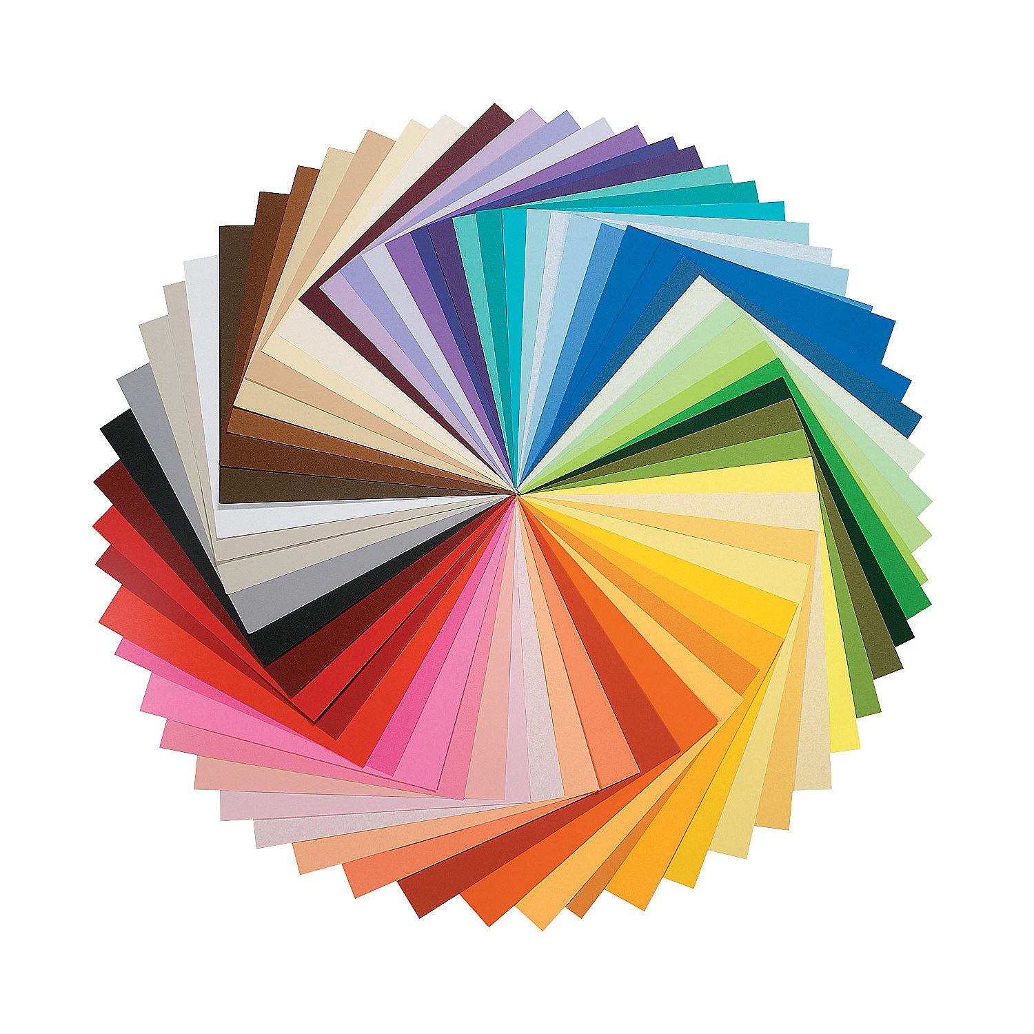 Full color spectrum paper pack oriental trading for Art and craft decoration