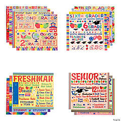 14 Pc. School Year Paper Pack