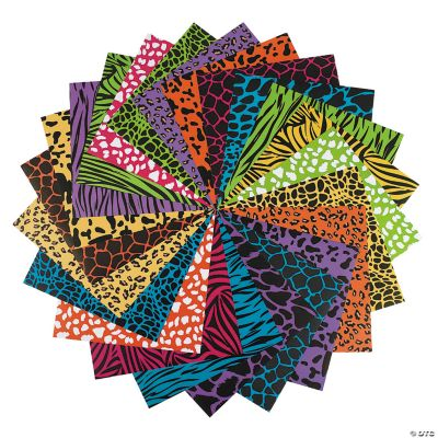 Colorful Animal Print Paper Pack