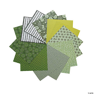 Green Mono Paper Pack
