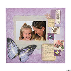 Natural Butterfly scrapbook collection