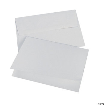 White A7 Notecards & Envelopes