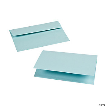 Pastel Blue A7 Notecards & Envelopes