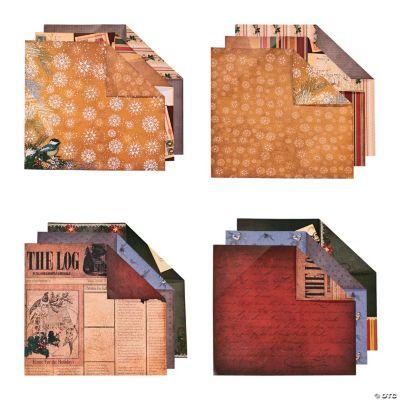 Christmas Cabin Scrapbook Paper Kit