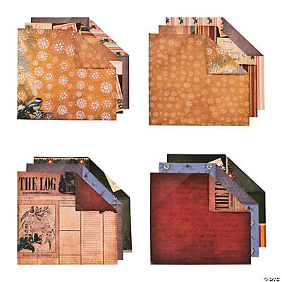 Christmas Cabin Scrapbook Paper Kit