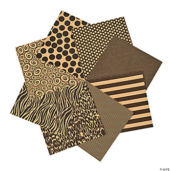 Patterned Kraft Paper Pack
