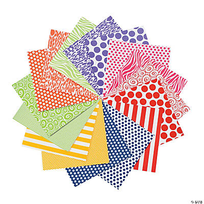 Patterned Bright Paper Pack