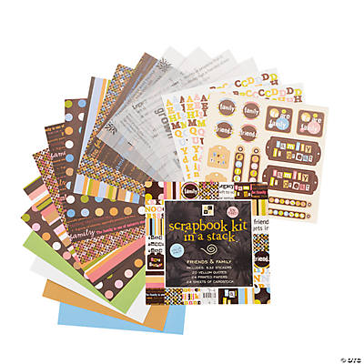 Die Cuts with A View® Scrapbook Kit in A Stack™ – Friends & Family
