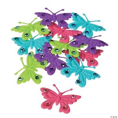 Butterfly Embellishments with Rhinestones