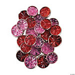 Monochromatic Jewel Brads - Pink & Red