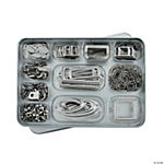 Silvertone Metallic Embellishment Kit