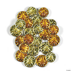 Monochromatic Jewel Brads - Yellow