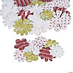 Printed Christmas Paper Flowers