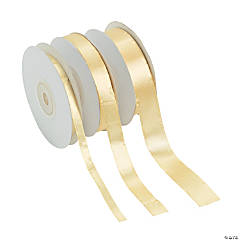 Pale Gold Satin Ribbon Set