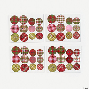 Plaid Chipboard Buttons