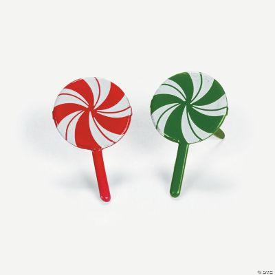 Peppermint Lollipop Brads
