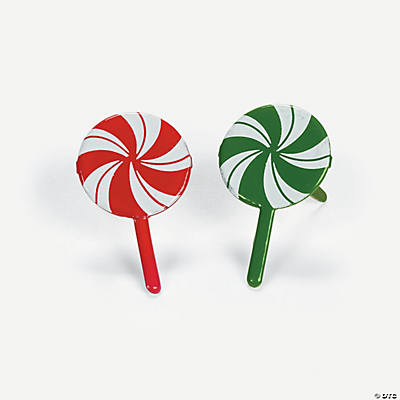 Peppermint Lollipop Brads