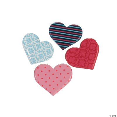 Patterned Heart Brads
