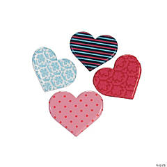 Patterned Heart Brads