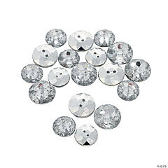 Silver Jewel Buttons
